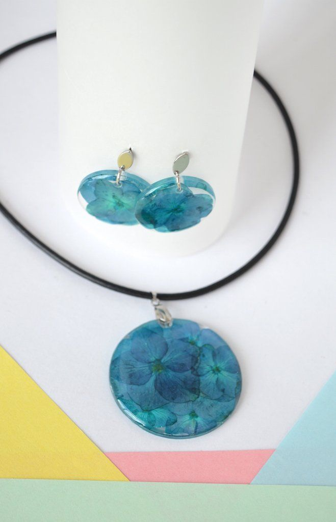 Necklace Set Turquoise Blue-Floresse