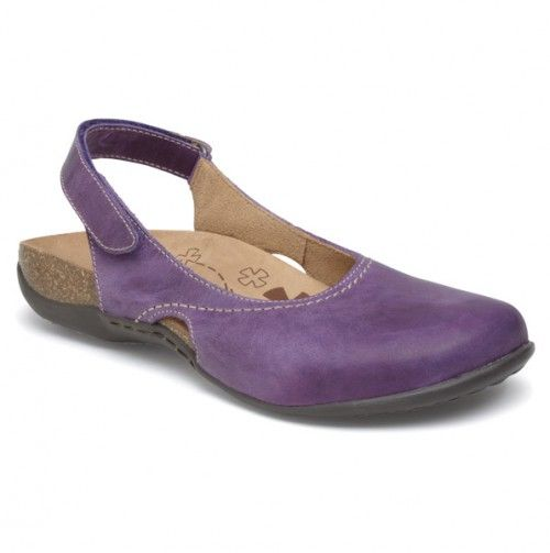 Purple Leather Sling Back Sandals -  Designed to relieve common conditions like heel, knee, back and leg pain