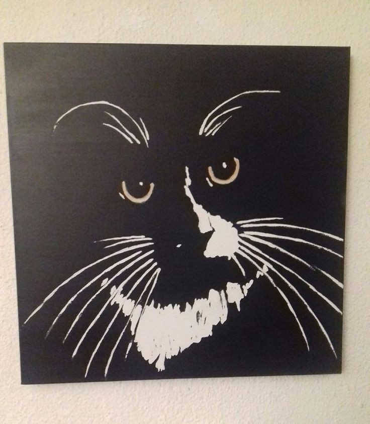Tuxedo Cat Painting by Shell Shaw