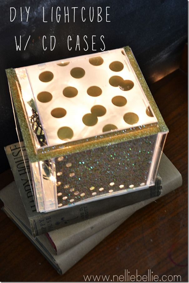 how to make a photo cube out of cd cases