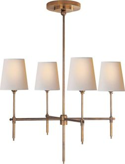 "Bryant Small Chandelier - TOB5002 - different finish...prob the antique or polished nickel - minimum overall height 28"" x 26""W"