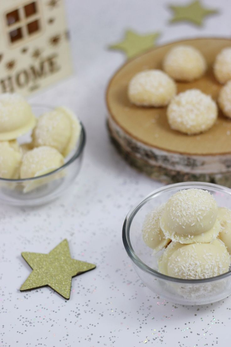 Rezept: Schneebällchen | Selbstgemachte Raffaello | Milchmädchen Pralinen