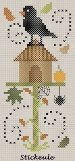 Stickeule - Fall bird & Birdhouse