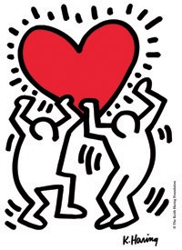 My fave Keith Harring print. It will stay on my bedroom wall forever.