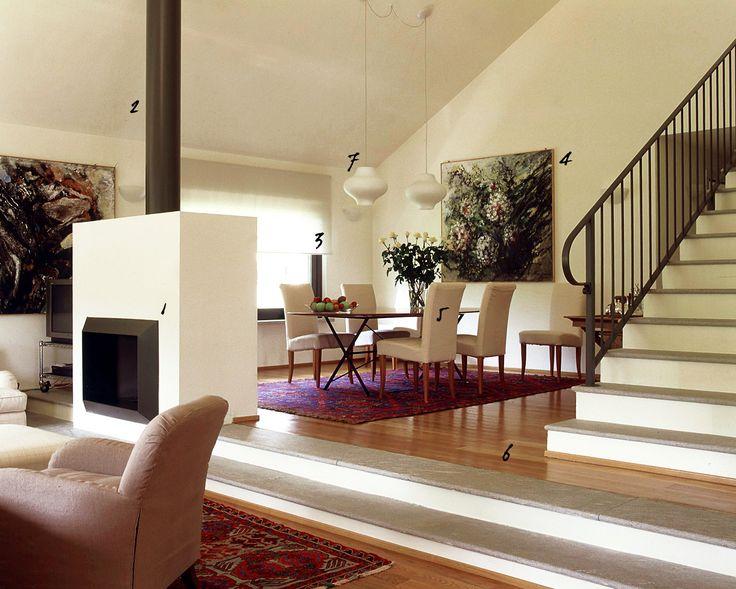 Arredare il soggiorno con stili diversi, accostando mobili moderni a pezzi d'epoca.