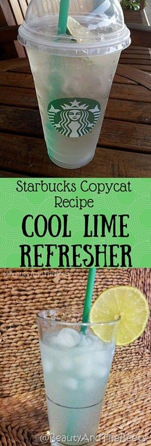 Cool Lime Refresher copycat recipe #Starbuckscopycat #MeatlessMonday #Coollimerefresher