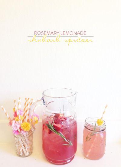 Rosemary Lemonade Rhubarb Spritzer: http://www.stylemepretty.com/living/2015/05/13/fresh-rhubarb-galette/