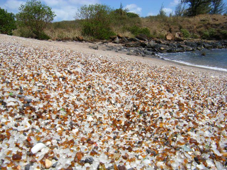 Glass Beach -- Hanapepe, Kauai, Hawaii.  One of the coolest beaches ever!   I really enjoyed seeing it.
