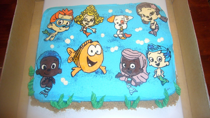 Bubble guppies for a 3yr old Vanilla butter cream on a