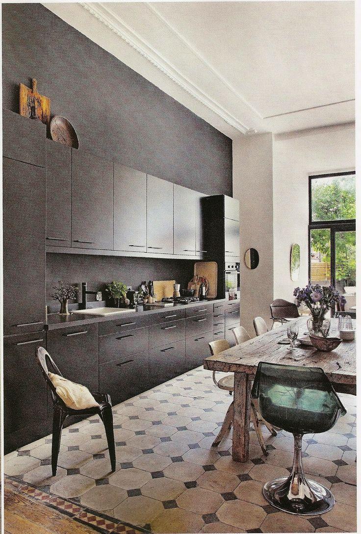 Black u0026 white statement kitchen Daily Dream