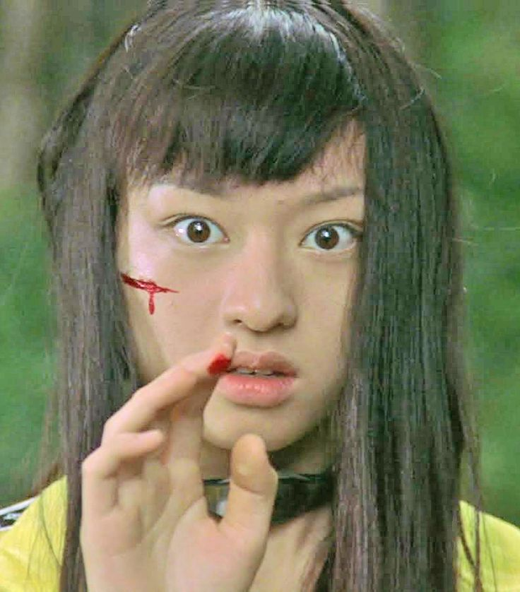 Battle Royale - Chiaki Kuriyama There is something much more raw and blunt to this film than its Hollywood counter part. Rather than clearly delineating a distinct political message about revolution, the lines become much more blurred. Each character is so vividly embodied in the short amount of screen time they are alloted. Their development is so fascinating to see and I think that's where the genius from this film stems from.