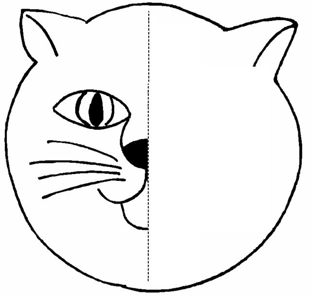 cat Symmetry Activity Coloring Pages | Crafts and Worksheets for Preschool,Toddler and Kindergarten