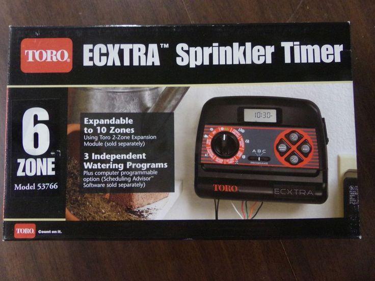 TORO Ecxtra sprinkler timer 53766 6 zone sprinkler controller expandible to 10 #Toro #sprinklers #eBay