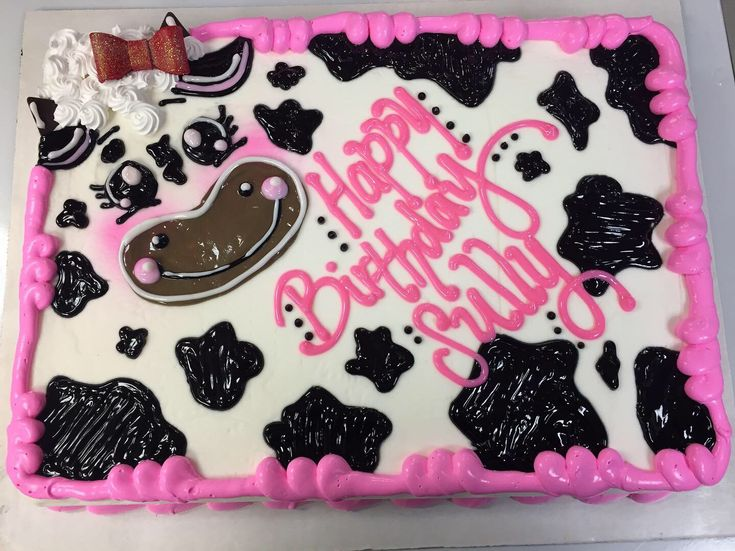 Cow themed Dairy Queen cake by Kelsey Scott Mason City IA DQ  – work ideas