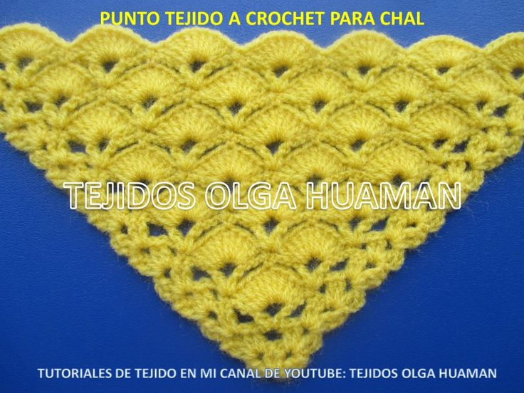 14 best puntos a crochet para chal images on Pinterest | Puntos ...