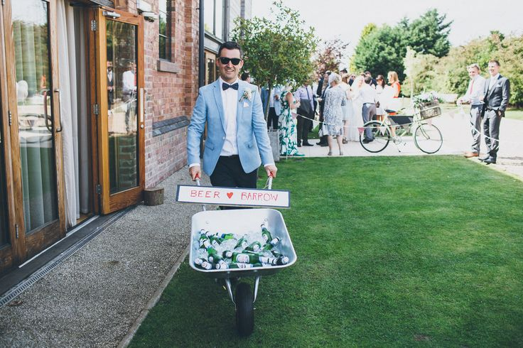 The perfect way to serve an ice cold beer! Image by @matthoran85 #wedding #summer #fete #fair #rustic #vintage #beer #alcohol #ice #barrow #unique