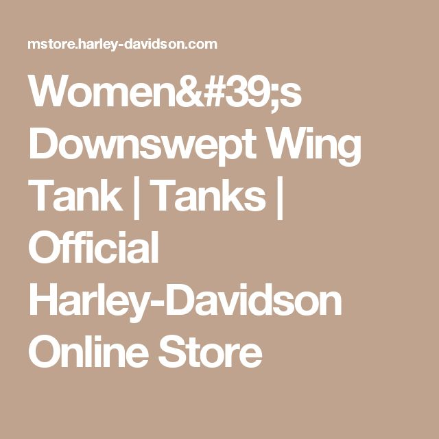 Women's Downswept Wing Tank | Tanks | Official Harley-Davidson Online Store