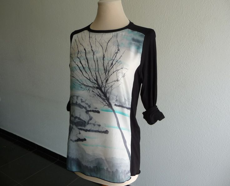 Tree handpainted on silk