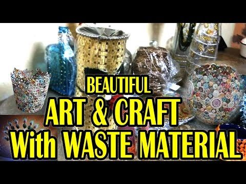 1000 ideas about waste material craft on pinterest easy for Handicraft with waste