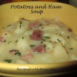 Potatoes and Ham Soup by RecipesForMyBoys