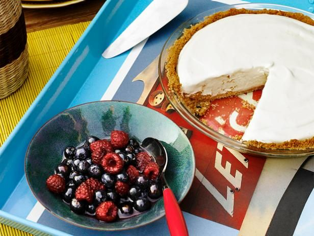 Frozen Lemonade Pie: This 5-star rated dessert is perfect for a sweet and refreshing outdoor party treat.