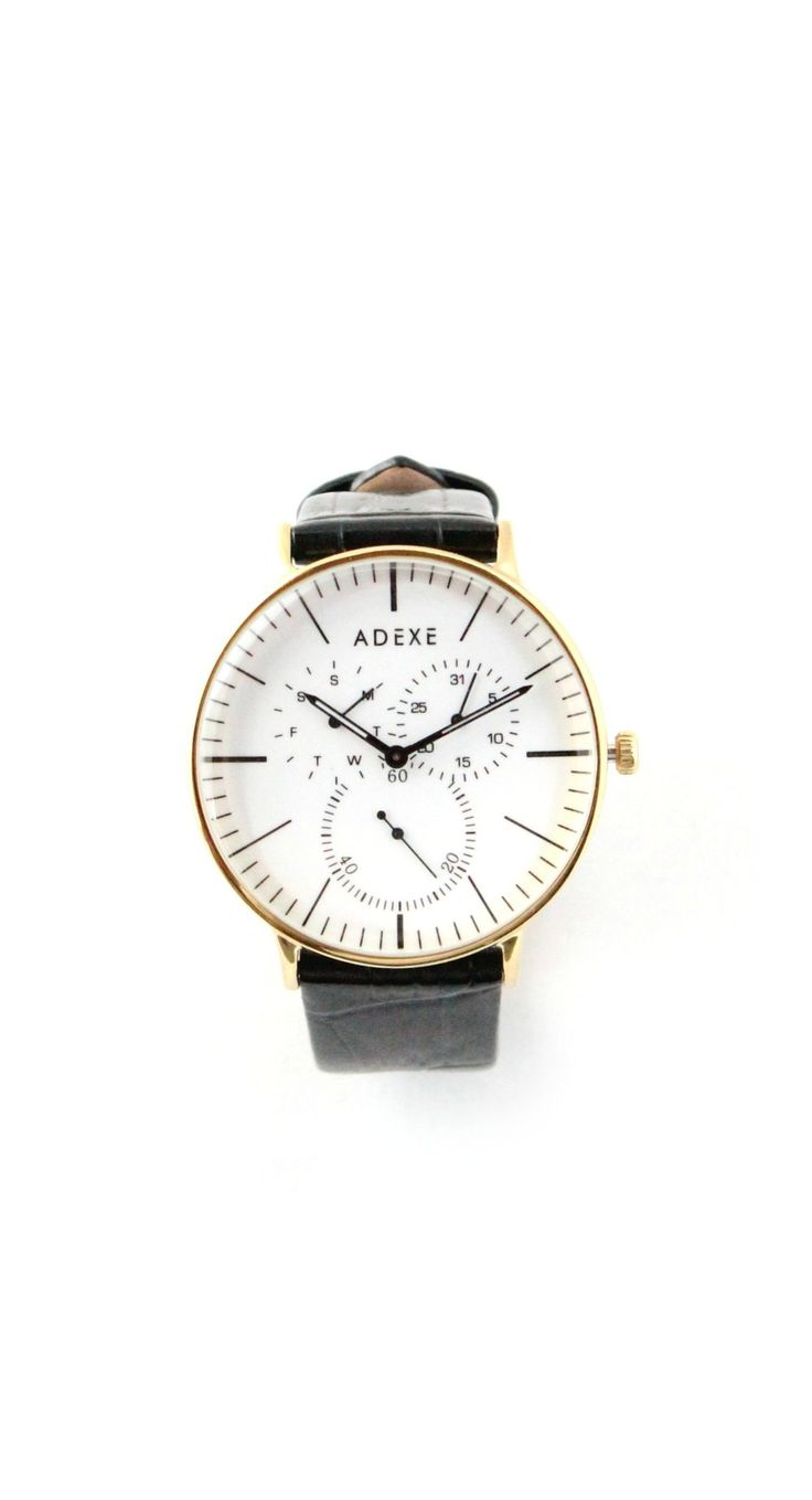 The Watch Watch | Adexe Watches | men's minimalist watches | affordable mens watches | #watchwatchthis | mens watches | mens fashion | mens accessories | gold watches for men | mens gold watches | black leather watches | white faced watches