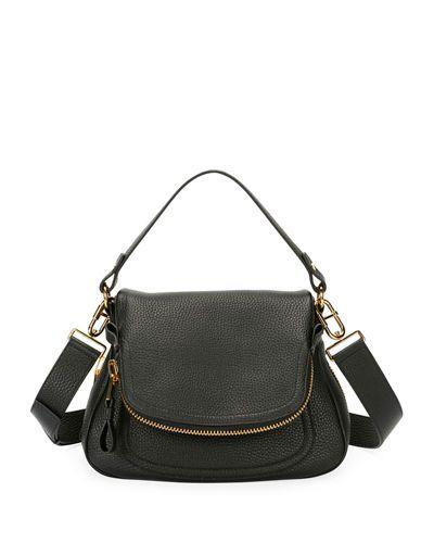 Jennifer Medium Grained Leather Saddle Bag