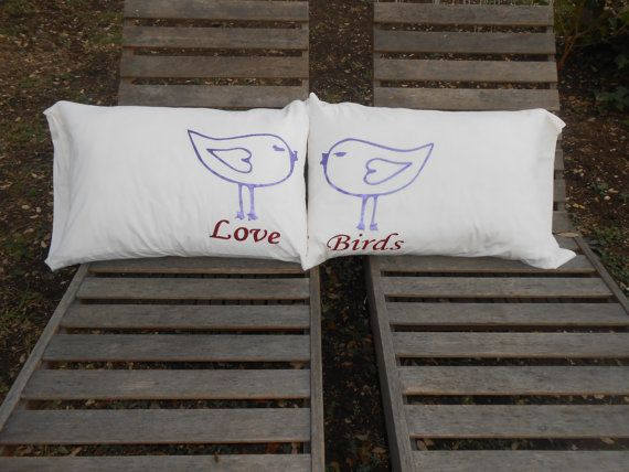 Love Birds Hand Painted Standard Couples by TreasuresShop on Etsy, $30.00