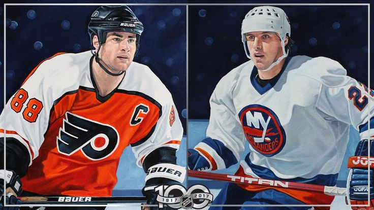 Eric Lindros, Mike Bossy portraits unveiled