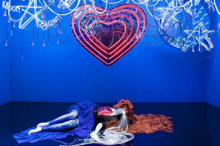 """SELFRIDGES, London, UK, Follow your Heart, """"Cosmic Love """" by musicians Florence and the Machine, pinned by Ton van der Veer"""