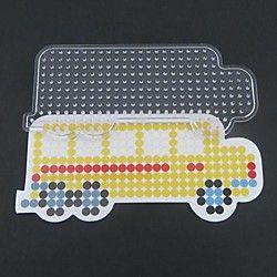 1PCS Template Clear Perler Beads Pegboard Yellow School Bus ...