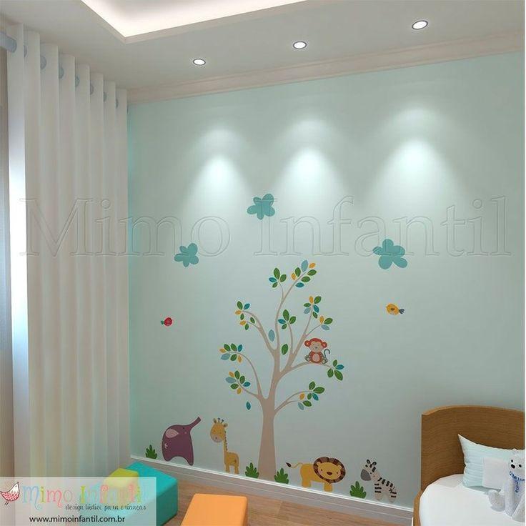 Adesivo de parede para decoração de quarto de bebê e infantil   SP,BH, MG, RJ, DF   Pássaros, passarinhos, leão, leãozinho, elefante, elefantinho, macaquinhos, macacos, zebras, zebrinhas, nuvens, hipopótamo, girafa, girafinhas