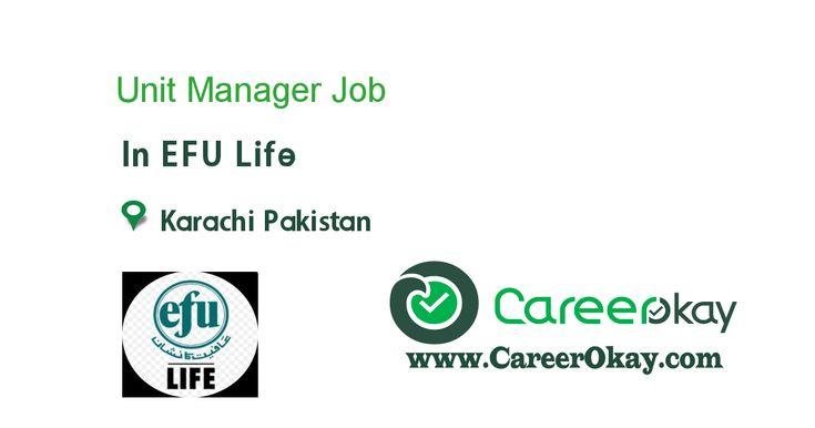 Unit Manager Https Www Careerokay Com Job Job Listings Unit Manager Efu Life 92809 Life Insurance Agent Sales And Marketing Jobs Insurance Sales