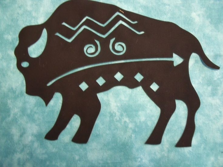 Indian Buffalo Symbol Silhouette Comes In 3 Sizes 8 Quot H 9