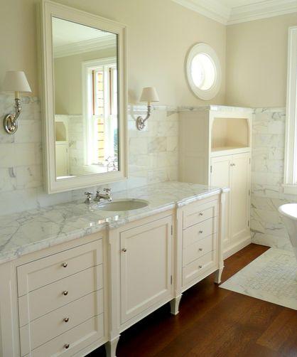 The best white for carrara marble maria killam white for Atrium white kitchen cabinets