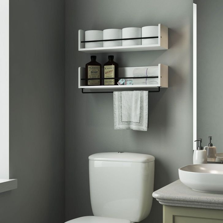 10 Beautiful Bathroom Accessories Design And Decoration Ideas You Need To Know Decor It S Toilet Shelves Shelves Above Toilet Bathroom Shelf Decor