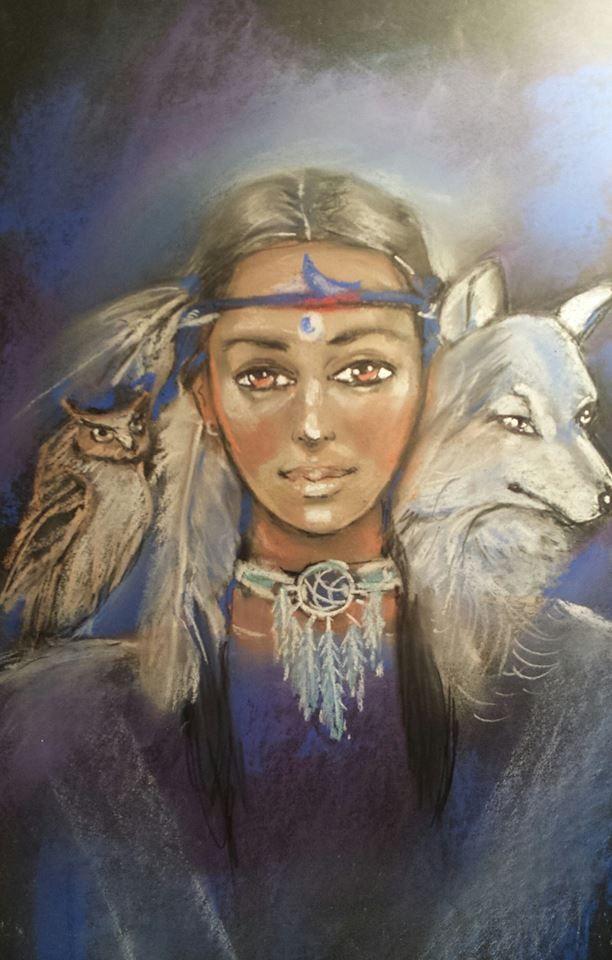 Wanda Shipton, Angel Guide Artist - Psychic Reader at Pink Lotus.  Call to book (07) 5571 2599