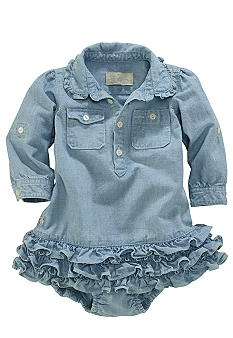 Ralph Lauren Childrenswear Little Chambray Dress-SO CUTE!