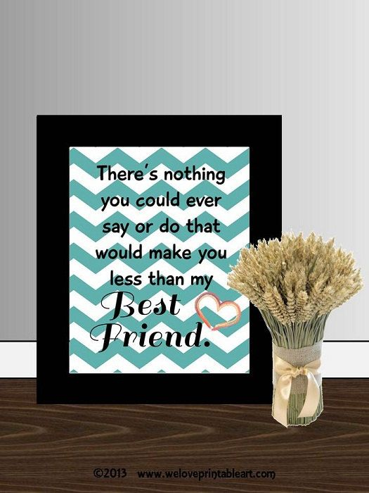 Gift for my Best Friend <3 Chevron -- There's nothing you could ever say or do that would make you less than my BEST FRIEND.