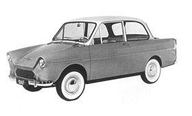 Op de RAI van 1958 presenteert Van Doornes Automobielfabriek (DAF) de DAF 600.