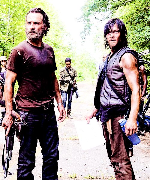 Rick Grimes and Daryl Dixon Andrew Lincoln and Norman Reedus