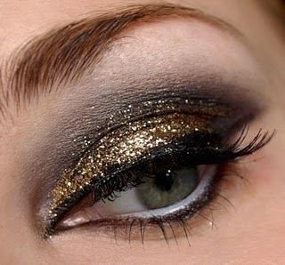 Smoky glitter eye!: Make Up, Eye Makeup, Style, Eyemakeup, Beauty, Gold, Hair, Glitter Eye, Eyes