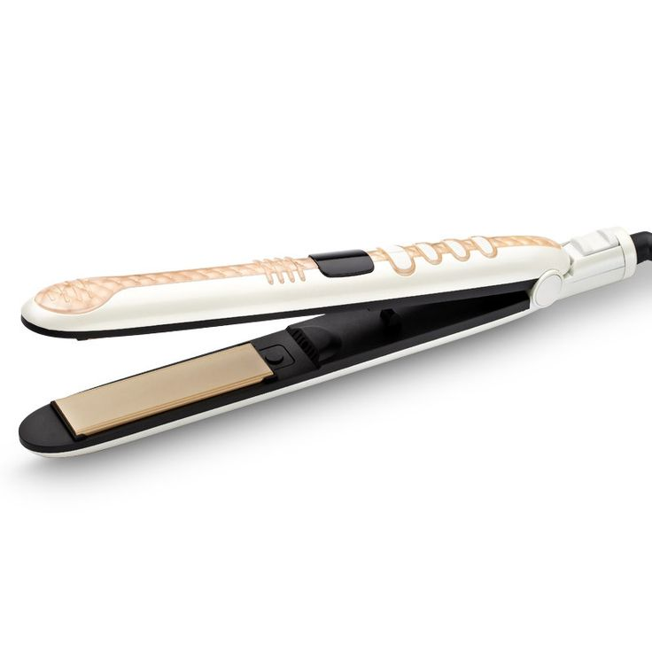 2 IN 1 Professional hair straightener ceramic plate LED display flat iron Styling Tools