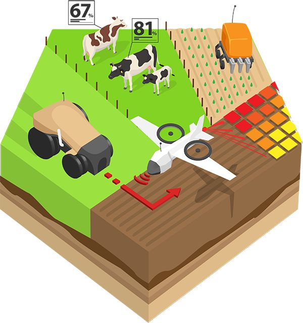 Precision agriculture: animated infographic explains how it revolutionises farming in Eu...