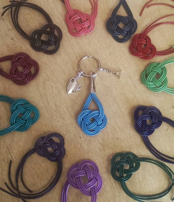 LOVE these keychains? Check out this item in my Etsy shop! Use coupon code PIN10 for 10% off! https://www.etsy.com/listing/260881673/celtic-knot-keychain-leather-keychain