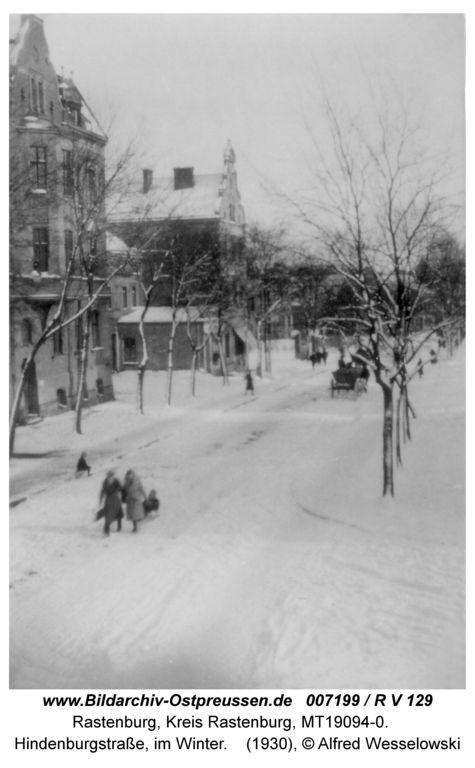 Rastenburg, Hindenburgstraße, im Winter
