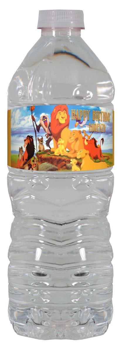 The Lion King personalized water bottle labels – worldofpinatas.com