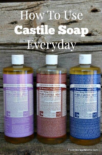 Ten Great Ways To Use Castile Soap Everyday | via www.foodstoragemoms.com