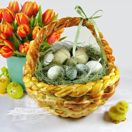 Drożdżowy Koszyczek Wielkanocny   Świat Ciasta
