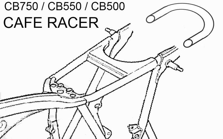Description: This is a new Cafe Racer 'Flat' Seat Hoop. It is made from quality mild steel. The pipe diameter is 25mm with wall thickness of 1.5mm, these cafe hoops are precision bent to 180 degrees.